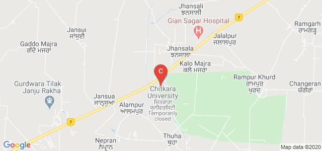 Chitkara School Of Health Sciences ( Gailileo Block ), Patiala, Punjab, India