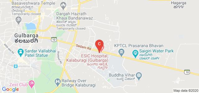 ESIC Dental College, State Highway 10, Gulbarga University, Jnana Ganga, Kalnoor, Gulbarga, Karnataka, India