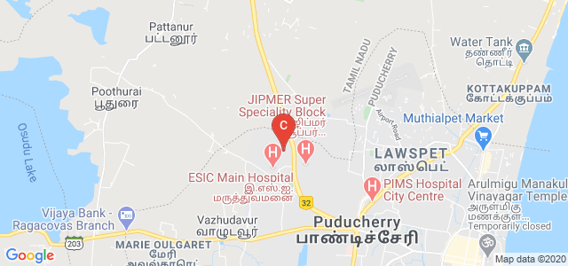 Mother Theresa Post Graduate & Research Institute Of Health Sciences, Indira Nagar, Gorimedu, Priyadarshini Nagar, Puducherry, Puducherry 605006, India