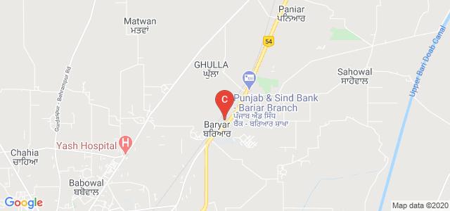 Institute Of Hotel Management, GT Road, Baryar, Gurdaspur, Punjab, India