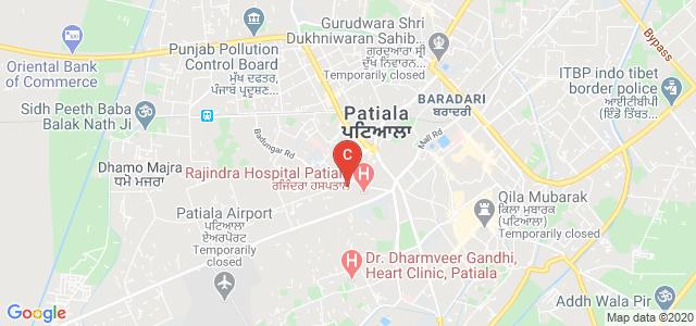 Government Nursing College Rajindra Hospital Patiala, Rajindra hospital, New Lal Bagh, Patiala, Punjab, India