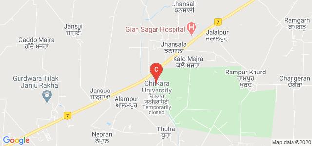 Chitkara School of Hospitality, National Highway 7, 64, Tehsil, Rajpura, Punjab, India