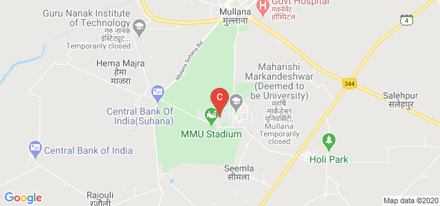 MM Institute of Computer Technology & Business Management, Mullana University Road, Mullana, Haryana, India