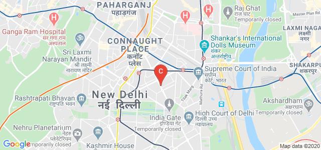 Bharatiya Vidya Bhavan Bus Stop, Kasturba Gandhi Marg, Copernicus Marg, New Delhi, Delhi, India