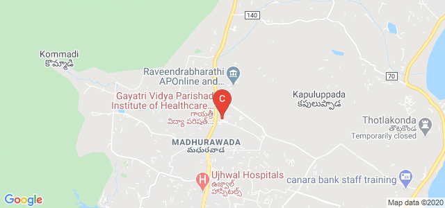 Gayatri Vidya Parishad Institute of Healthcare & Medical Technology, Maridi valley, Village, Srinivasa Nagar, Madhurawada, Visakhapatnam, Andhra Pradesh, India