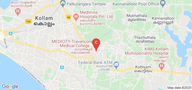 Travancore Medical College Hospital, Medicity, Kollam Bypass Road, Mylapure, Umayanalloor, Thazhuthala, Kerala, India