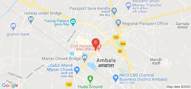 Government Polytechnic College, Ambala City, opposite Civil Hospital, Patti Mehar, Ambala, Haryana, India