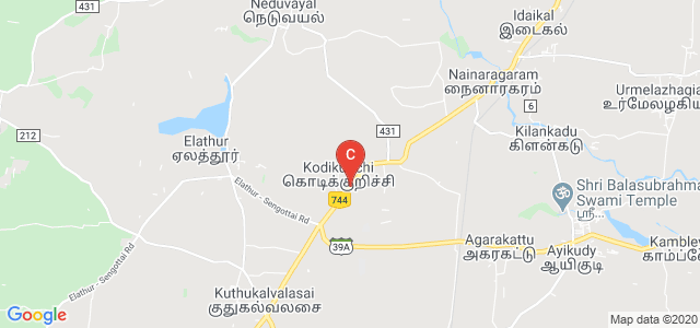 Tenkasi - Kodikurichi Road, Kodikurichi, Tirunelveli, Tamil Nadu 627804, India