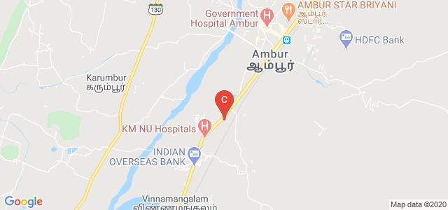 KAR Polytechnic College, NH 46, Ambur Plantation R.F., Ambur, Tamil Nadu, India