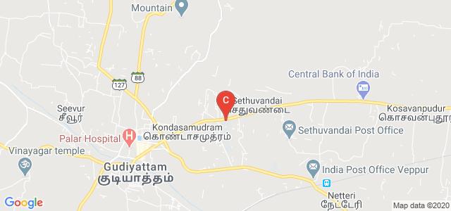 Rajagopal Polytechnic College, State Highway 59, Gandhi Nagar, Gudiyattam, Tamil Nadu, India