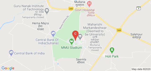 Maharishi Markandeshwar Institute Of Medical Sciences & Research, Ambala, Haryana, India