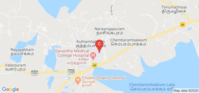 Saveetha School of Engineering, Unnamed Road, Kuthambakkam, Tamil Nadu, India