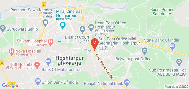 DAV college Hoshiarpur, Ajit Nagar, Sikh Line, Aslamabad, Hoshiarpur, Punjab, India