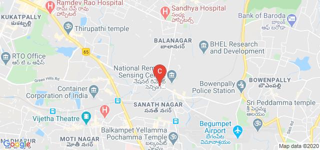 National Institute of Pharmaceutical Education And Research (NIPER), Kukatpally Industrial Estate, Balanagar, Hyderabad, Telangana, India
