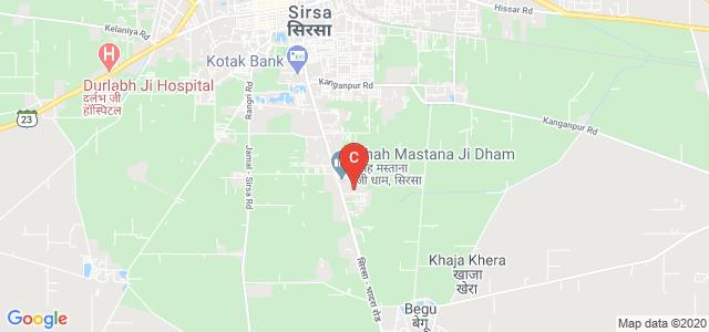 Shah Satnam Ji Boys College, Sukh Sagar Colony, Sirsa, Haryana, India