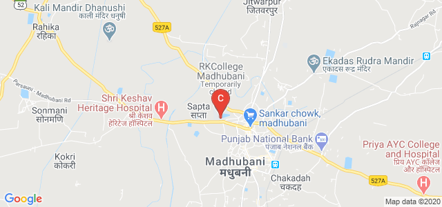 R.K.College Madhubani, Pupri - Madhubani Road, Baingra, Madhubani, Bihar, India