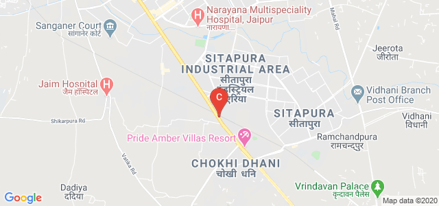 Mahatma Gandhi College of Pharmaceutical Sciences, Tonk Road, Sitapura Industrial Area, Sitapura, Jaipur, Rajasthan, India