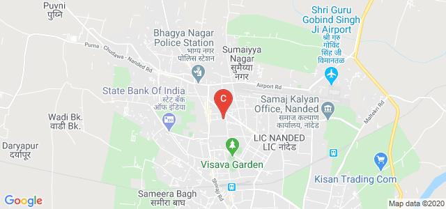 Shri Sharda Bhavan Education Society. Nanded Pharmacy College, OPP. KASTURBA MATRU SEVA KENDRA, Vivek Nagar, Shyam Nagar, Nanded, Maharashtra, India