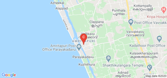 Amrita School of Biotechnology, Amritapuri, Vallikavu, Kerala, India