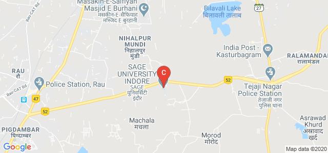 SAGE University, Bypass Road, Kailod Kartal, Indore, Madhya Pradesh, India