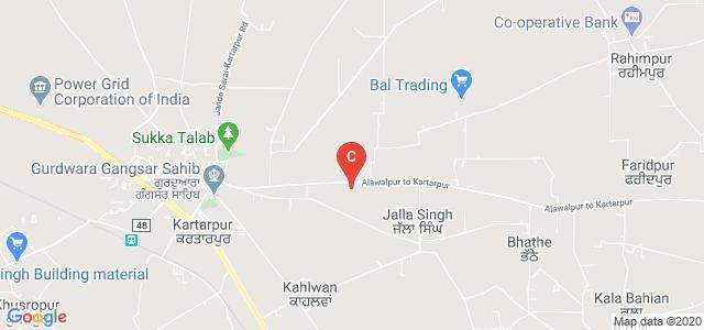 Mata Gujri Khalsa College, Alawalpur to Kartarpur, Kartarpur Rural, Punjab, India