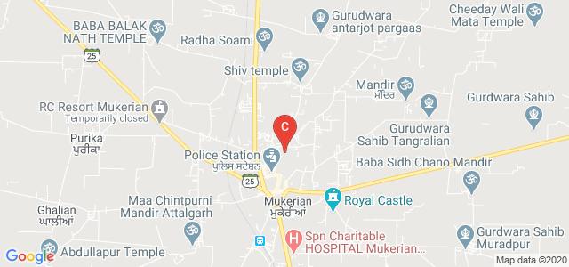 S.P.N College, Railway Rd, Kishan Pura, Mukerian, Punjab, India