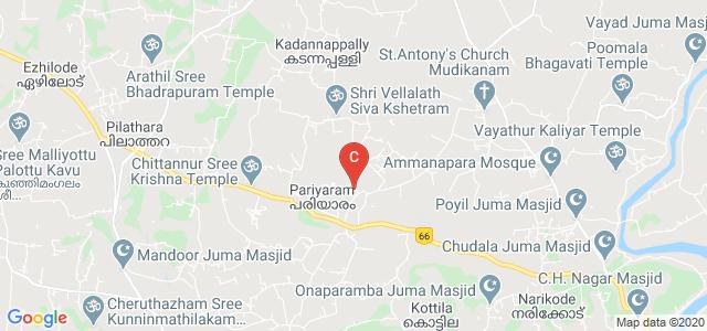 Academy of Pharmaceutical Sciences, Pariyaram, Pariyaram MC Campus Road, Pariyaram, Kerala, India