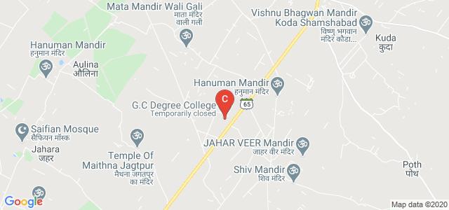 G.C Degree College, Bulandshahr - Syana Road, Nagla Karan, Uttar Pradesh, India