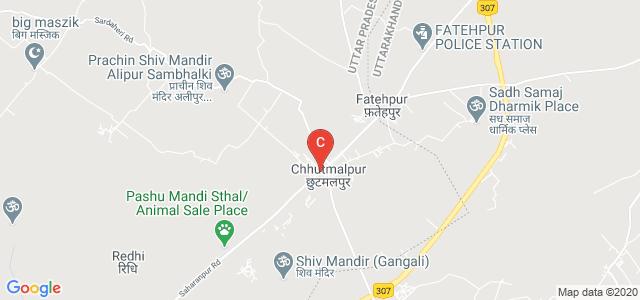 Dehradun Road, Chhutmalpur, Saharanpur, Uttar Pradesh, India