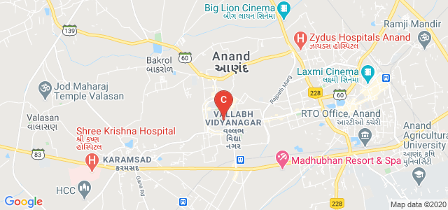 G H Patel College of Engineering & Technology, Bakrol Road, Mota Bazaar, Vallabh Vidyanagar, Anand, Gujarat, India