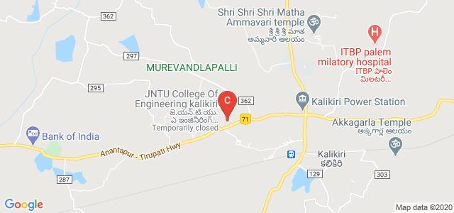JNTUA College of Engineering Kalikiri, Kalikiri, Andhra Pradesh, India