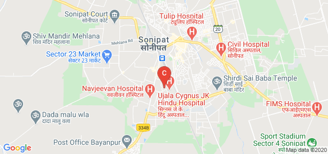 Hindu College of Engineering, Sonepat, Near Cygnus J K Hindu Hospital, Gandhi Nagar, Industrial Area, Sonipat, Haryana, India