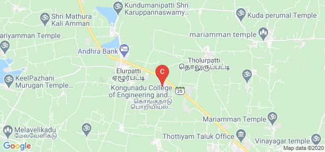 Kongunadu College of Engineering and Technology, Tholurpatti, Tiruchirappalli, Tamil Nadu, India
