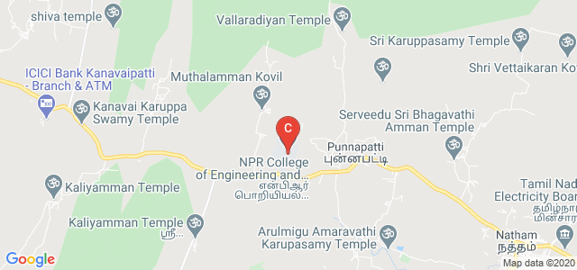 NPR College of Engineering and Technology, Dindigul, Tamil Nadu, India