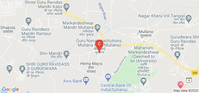 Guru Nanak Institute of Technology, Mullana, Haryana, India