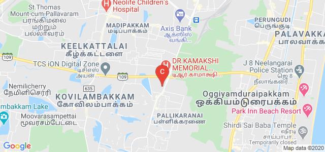Jerusalem College of Engineering, VGP Rajesh Nagar, Pallikaranai, Chennai, Tamil Nadu, India