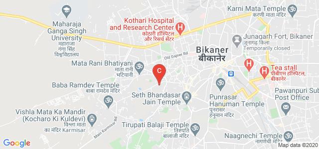 Binani Girls College, Karmisar Road, Outside Nathusar Gate, Nehru Nagar, Bikaner, Rajasthan, India