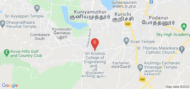 Sri Krishna College of Engineering and Technology, Sugunapuram East, BK Pudur, Kuniamuthur, Coimbatore, Tamil Nadu, India