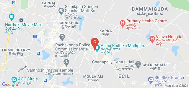 Vertex Pearl Complex, Doctor A S Rao Nagar Road, Brindavan Colony, Secunderabad, Telangana, India