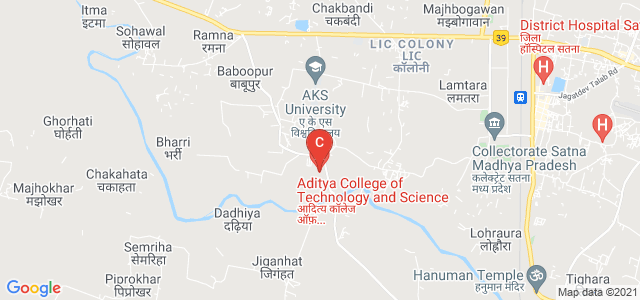Aditya College of Technology and Science, Satna, Madhya Pradesh, India