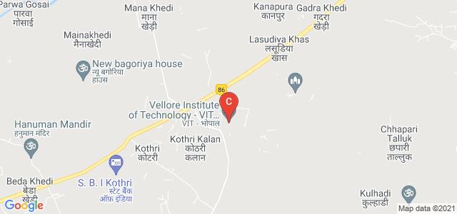 VIT Bhopal University, Bhopal, Madhya Pradesh, India