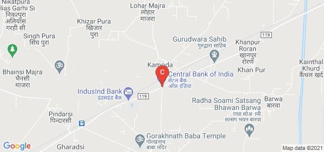 Kamoda Bus Stand, Major District Road 119, Haryana, India