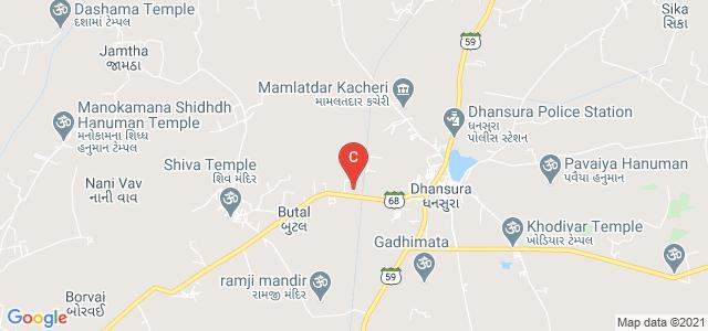 The Dhansura Peoples Co-operative Bank Ltd. Mahila Arts & Commerce College, Gujarat State Highway 68, Gujarat, India