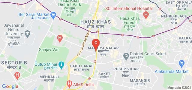 Sri Aurobindo College, Evening, Shivalik Road, Block B, Shivalik Colony, Malviya Nagar, New Delhi, Delhi, India