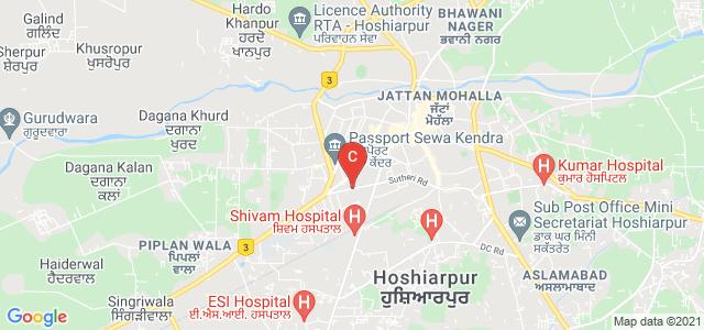 Government College Road, Tulsi Nagar, Gokal Nagar, Hoshiarpur, Hoshiarpur, Punjab 146001, India