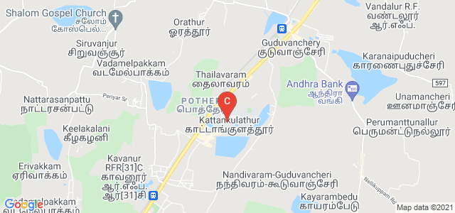 SRM Institute of Science and Technology, Potheri, SRM Nagar, Kattankulathur, Tamil Nadu, India