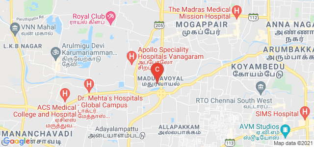 Dr. M.G.R. Educational And Research Institute, Periyar E.V.R. High Road, Viswasa Nagar, Maduravoyal, Chennai, Tamil Nadu, India
