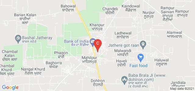 S.G.G.S. Khalsa College, Hoshiarpur, Chandigarh Rd, Mahilpur, Hoshiarpur, Punjab, India