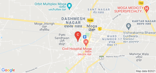 SD College For Women, Partap Road, Jawahar Nagar, Moga, Punjab, India