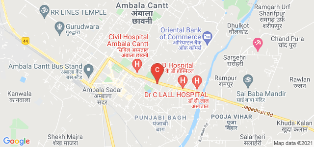 S D College, Jagadhari Road, Near Civil Hospital, Tribune Colony, Ambala Cantt, Haryana, India